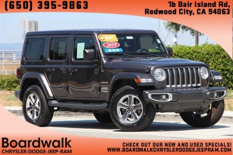 Certified Pre-Owned 2018 Jeep Wrangler Unlimited Sahara With Navigation & 4WD