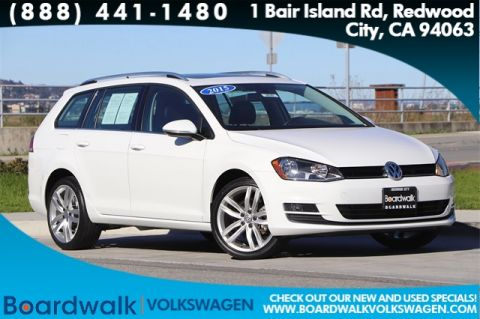 Pre-Owned 2015 Volkswagen Golf SportWagen SEL With Navigation